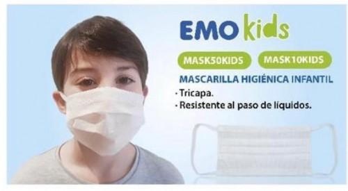 Mascarilla higienica infantil talla xxs de 3-5 años