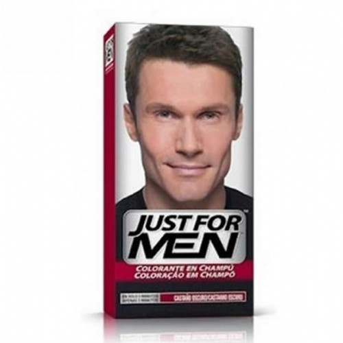 Just for men champu colorante (66 cc castaño oscuro)