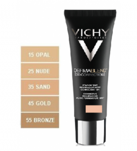 Vichy Dermablend 3d correction spf 15 oil free (tono 45)