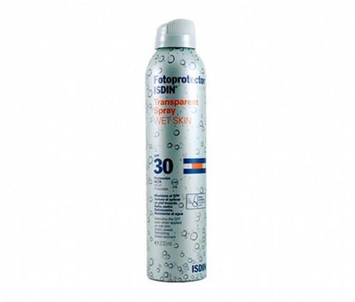 Fotoprotector isdin 30 wet skin spray transparente (200 ml)