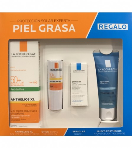 Pack anthelios rostre piel grasa anti-brillos
