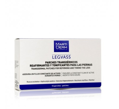 Martiderm legvass parches transdermicos - reafirmantes y tonificantes para piernas (15 parches)
