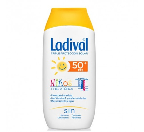 Ladival niños y piel atopica fps 50+ (200 ml)