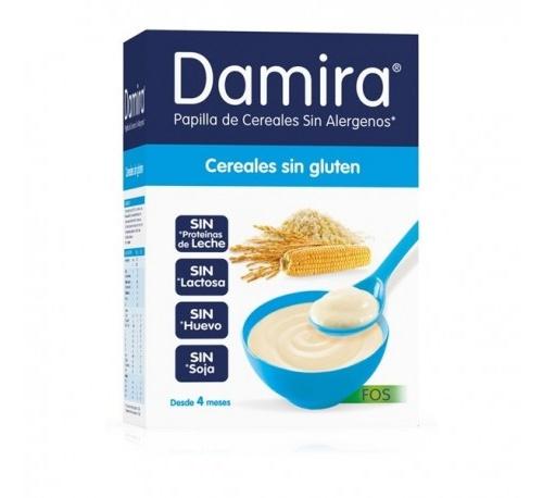 Damira papilla cereales sin gluten con fos (600 g (300 g 2 envases))