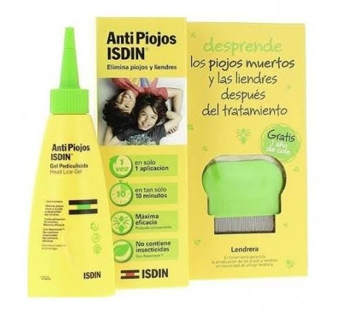 Isdin antipiojos pack gel con lendrera