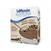Bimanan sustitutive avena y cacao con pepitas choco (55 g 5 sobres)