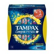 Tampax compak pearl tampon 100%algodon (regular 18 u)