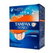TAMPAX PEARL TAMPON 100%ALGODON (SUPER PLUS 24 U)