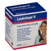 Leukotape k - vendaje neuromuscular tecnica vnm (negro 5 cm x 5cm)