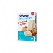 Bimanan bekomplett snack (24 barritas 35 g sabor cheesecake con fresa)