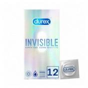 Durex invisible extra fino extra sensitivo (12 preservativos)