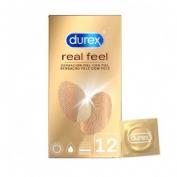 Durex real feel preservativo sin latex (12u)