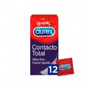 Durex sensitivo contacto total - preservativos (12 unidades)