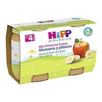 Potitos Hipp biologico manzana y platano (2x125 g + 4 m)