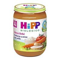 Potitos hipp verdura y arroz con pollo