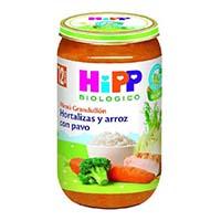 Potitos hipp verdura y arroz con pavo 250 g + 12 m