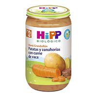 Potitos Hipp biologico zanahoria y con carne 250 g