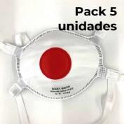 Pack de 5 unidades Mascarilla ffp3