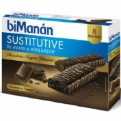 Bimanan barritas chocolate intenso (40 g 8 barritas)
