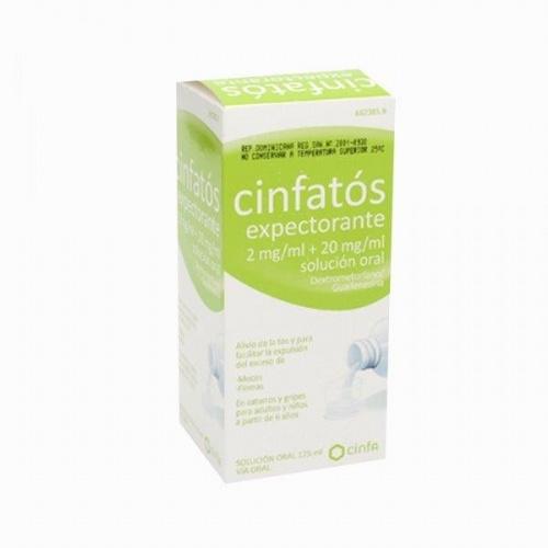 CINFATOS EXPECTORANTE 2 mg/ml + 20 mg/ml SOLUCION ORAL, 1 frasco de 125 ml