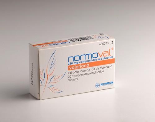 NORMOVAL 250 mg COMPRIMIDOS RECUBIERTOS, 30 comprimidos