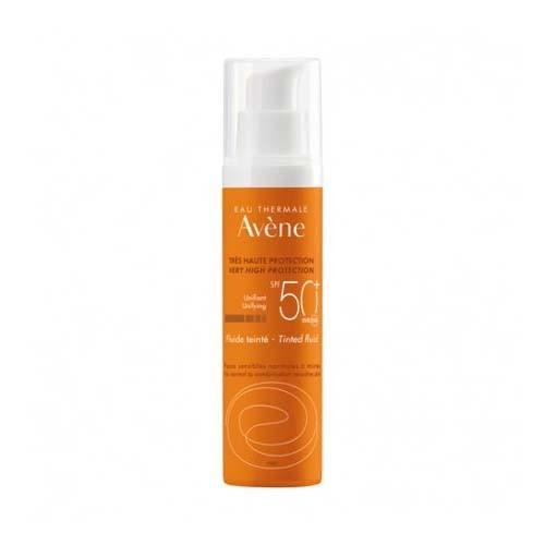 Avene emulsion coloreada 50 + toque seco sin perfume (50 ml )