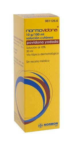 NORMOVIDONA 100 MG/ML SOLUCIÓN CUTÁNEA , 1 frasco de 50 ml