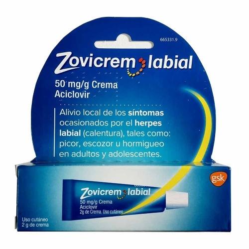 ZOVICREM LABIAL 50 mg/g CREMA, 1 tubo de 2 g
