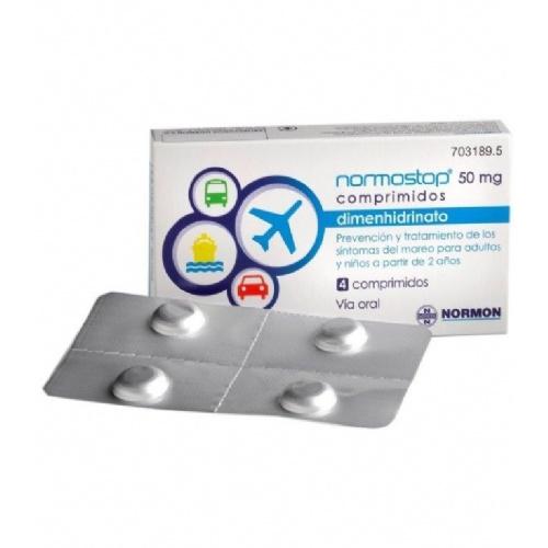 NORMOSTOP CAFEINA 50 MG/50 MG COMPRIMIDOS RECUBIERTOS CON PELICULA, 4 comprimidos (Blister Al/PA-Al-