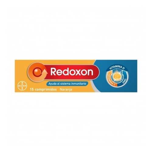 REDOXON DOBLE ACCION COMP EFERVESCENTES - VIT C + ZINC (15 COMPRIMIDOS NARANJA)