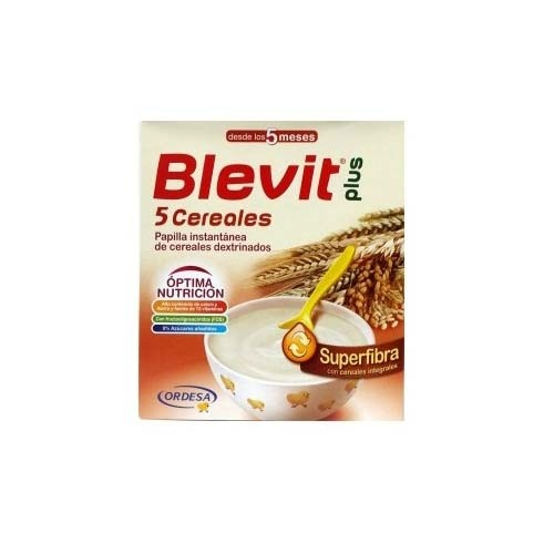 BLEVIT PLUS SUPERFIBRA PAPILLA 5 CEREALES (600 G)