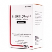 REGAXIDIL 50 mg/ml SOLUCION CUTANEA , 2 frascos de 60 ml