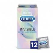 Durex invisible extra fino extra lubricado (12 preservativos)