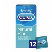 Durex natural plus - preservativos (12 u)