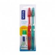Cepillo de dientes vitis medio (duplo)