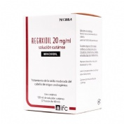 REGAXIDIL 20 mg/ml SOLUCION CUTANEA , 120 ml (2 frascos de 60 ml)