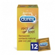 Durex real feel preservativo sin latex (12u)