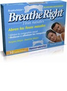 Breathe right tira nasal (transparente talla grande 10u)