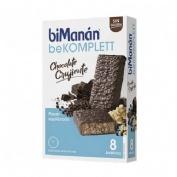 Bimanan barritas  chocolate crujiente snack 8 barritas (280 g)