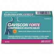 GAVISCON FORTE COMPRIMIDOS MASTICABLES , 32 comprimidos